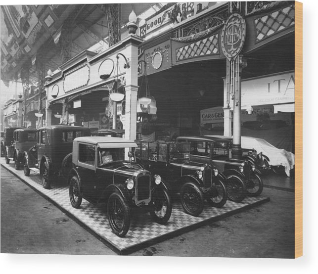 Austin Wood Print featuring the photograph Austin Motor Show by Topical Press Agency