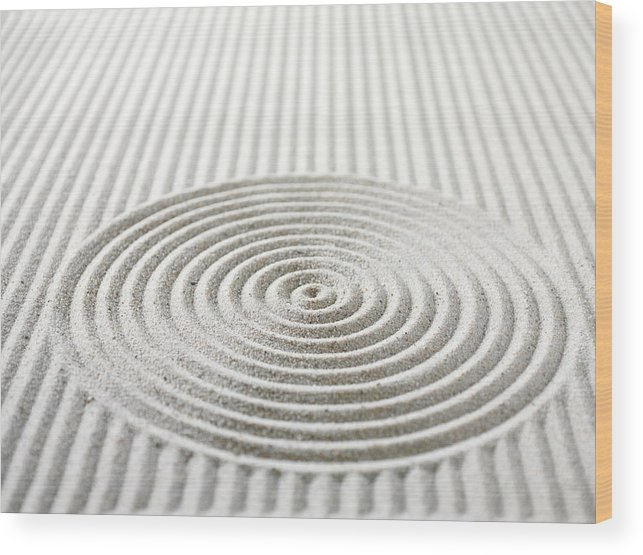 In A Row Wood Print featuring the photograph Circles And Lines In Sand by Wragg