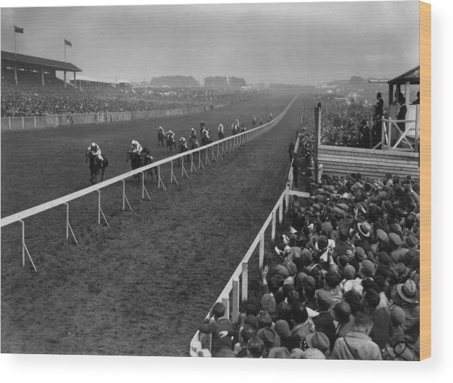 Horse Wood Print featuring the photograph Derby Day Winner by Central Press