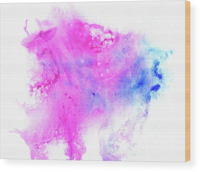 Art Wood Print featuring the digital art Lilac Blot by Pobytov