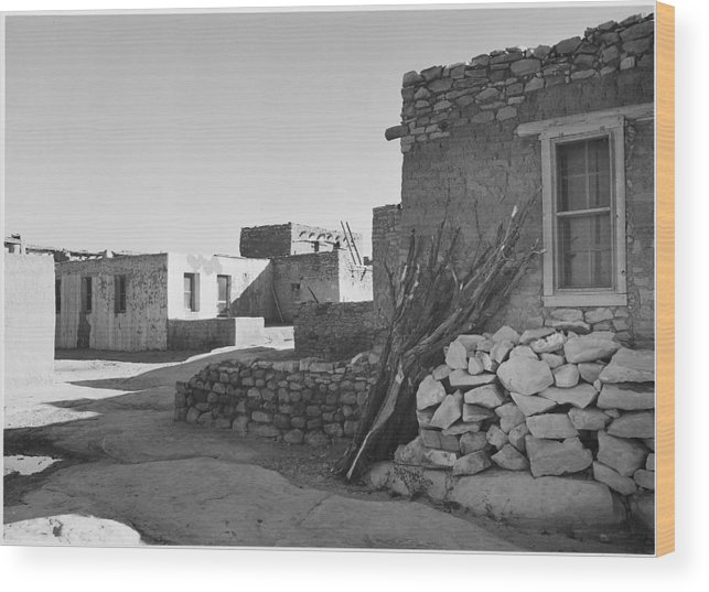 New Mexico Wood Print featuring the photograph Looking Across Street Toward Houses by Buyenlarge