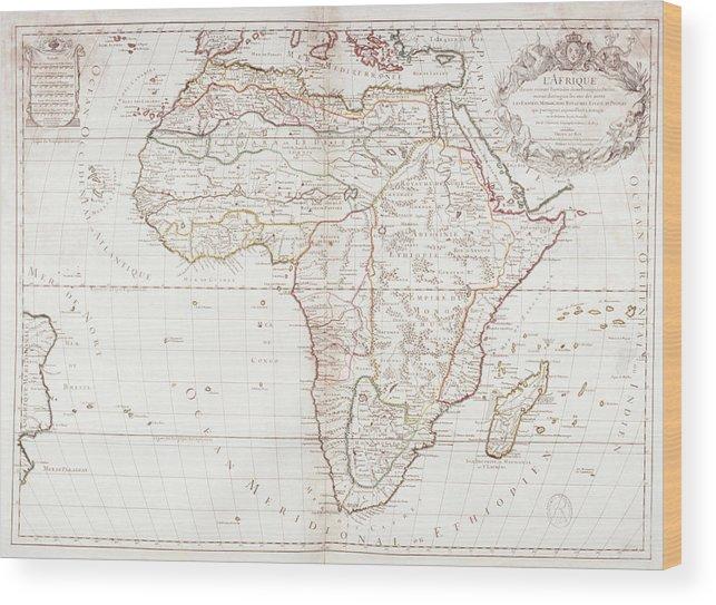 Color Image Wood Print featuring the digital art Map Of Africa by Fototeca Gilardi