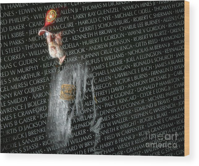Event Wood Print featuring the photograph Names Of War Dead Read At Vietnam by Chip Somodevilla