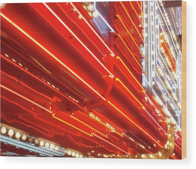 Downtown District Wood Print featuring the photograph Neon Lights Downtown Las Vegas by Jill Tindall