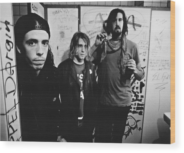 People Wood Print featuring the photograph Nirvana Backstage by Paul Bergen