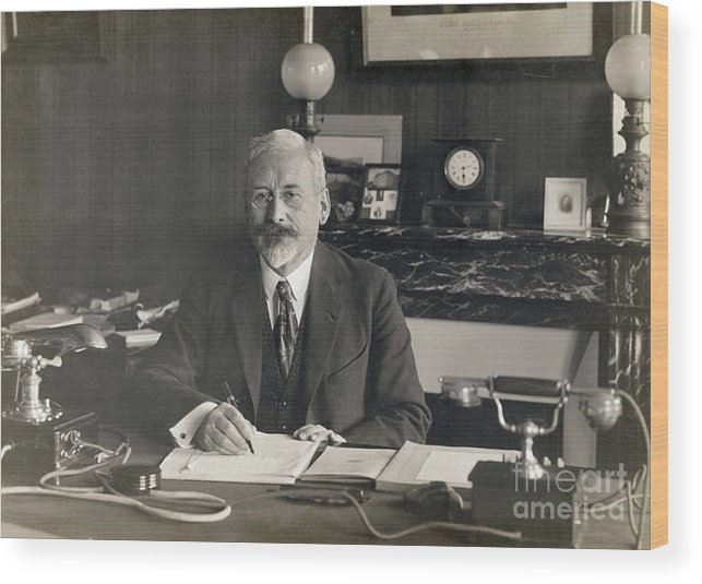 Physicist Wood Print featuring the photograph Physicist Edward Guillaume by Bettmann