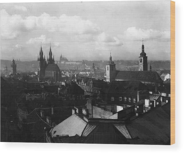 Architectural Feature Wood Print featuring the photograph Prague by Fox Photos