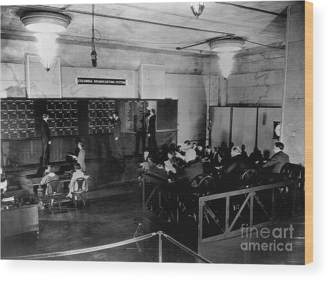 People Wood Print featuring the photograph Radio Station Broadcasting Election by Bettmann