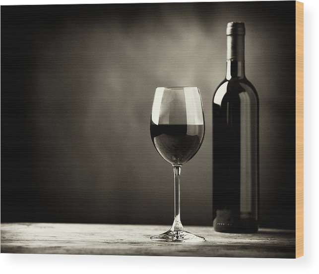 Alcohol Wood Print featuring the photograph Red Wine by Kaisersosa67