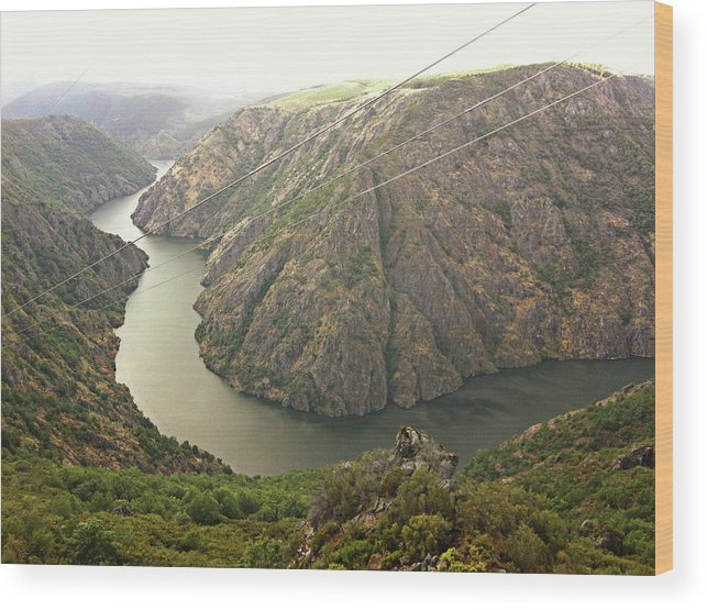 Tranquility Wood Print featuring the photograph Ribeira Sacra by Salomé Fresco