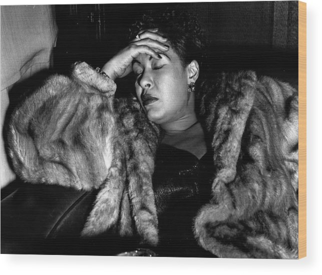 Billie Holiday Wood Print featuring the photograph Sleeping Billie by Charles Hewitt