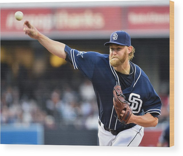 California Wood Print featuring the photograph Andrew Cashner by Denis Poroy