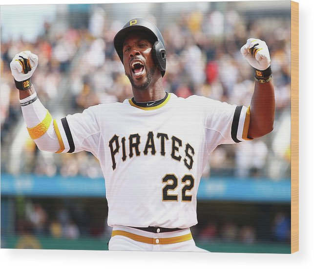 Following Wood Print featuring the photograph Andrew Mccutchen by Jared Wickerham