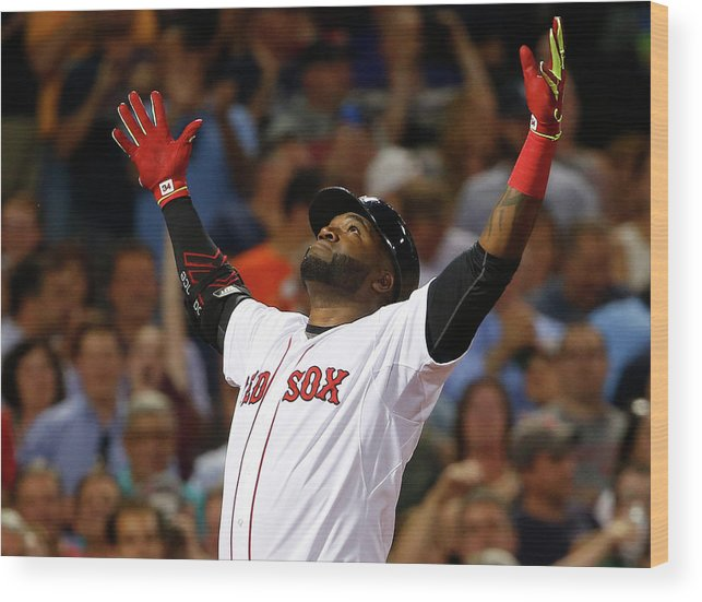 People Wood Print featuring the photograph David Ortiz by Winslow Townson