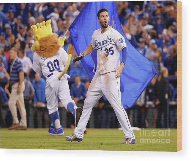 People Wood Print featuring the photograph Eric Hosmer by Rob Carr