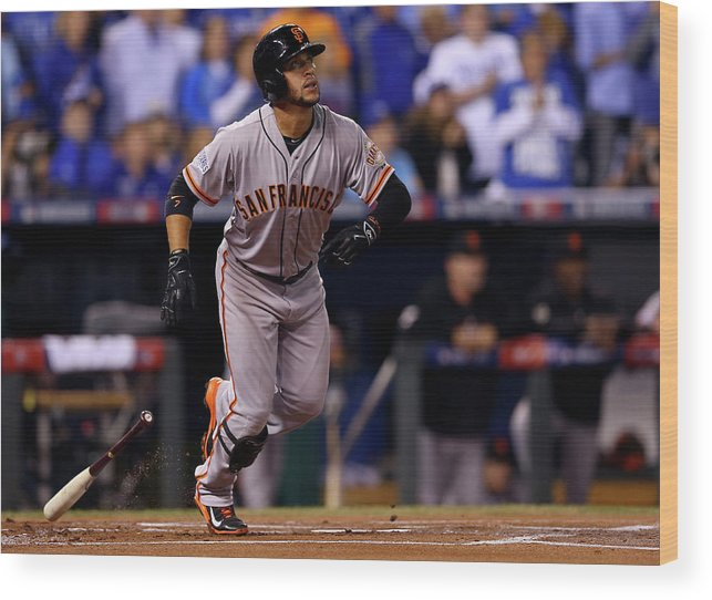 Game Two Wood Print featuring the photograph Gregor Blanco by Elsa