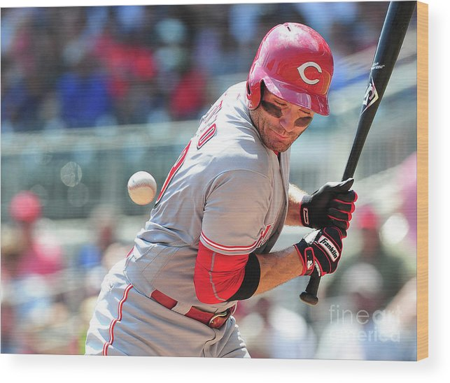 Atlanta Wood Print featuring the photograph Joey Votto by Scott Cunningham