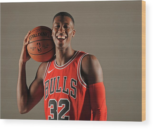 Media Day Wood Print featuring the photograph Kris Dunn by Randy Belice