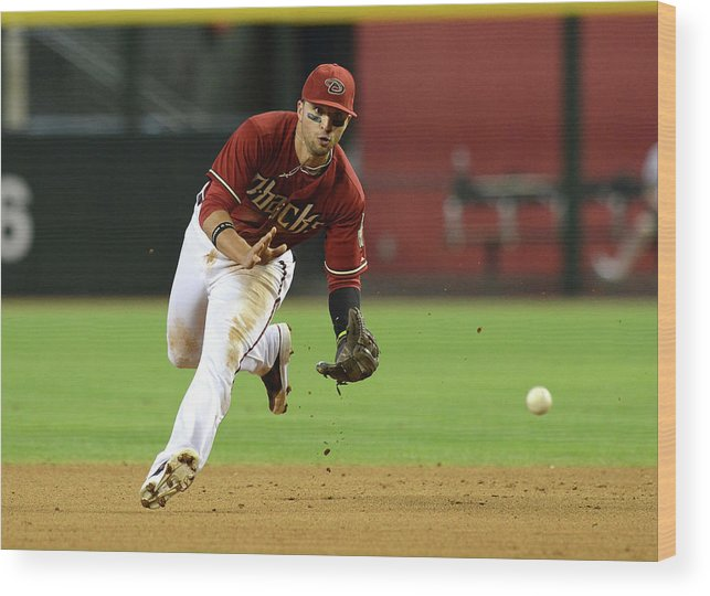 American League Baseball Wood Print featuring the photograph Martin Prado by Norm Hall
