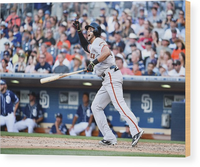 Ninth Inning Wood Print featuring the photograph Mike Morse by Denis Poroy