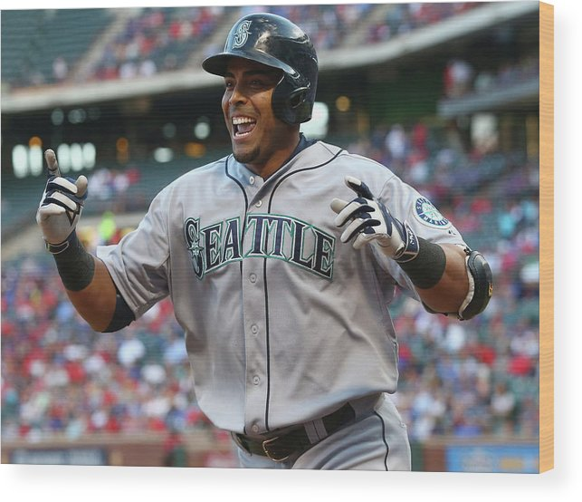 Second Inning Wood Print featuring the photograph Nelson Cruz by Ronald Martinez