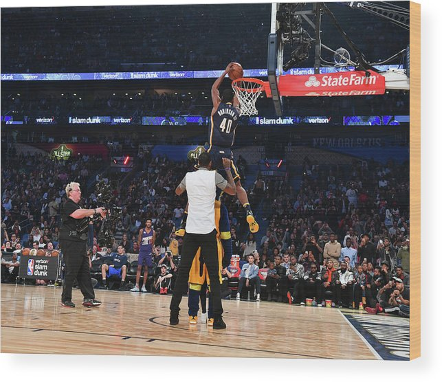 Event Wood Print featuring the photograph Paul George and Glenn Robinson by Jesse D. Garrabrant
