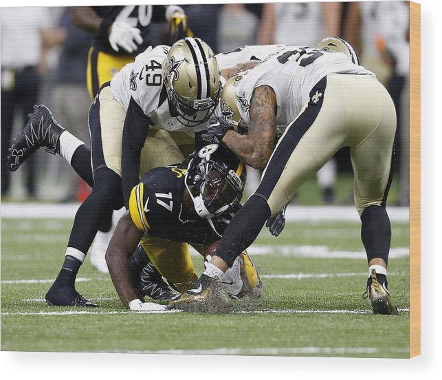 People Wood Print featuring the photograph Pittsburgh Steelers v New Orleans Saints by Jonathan Bachman