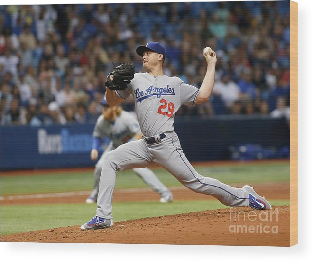 People Wood Print featuring the photograph Scott Kazmir by Brian Blanco