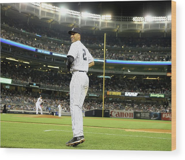 People Wood Print featuring the photograph Derek Jeter by Elsa