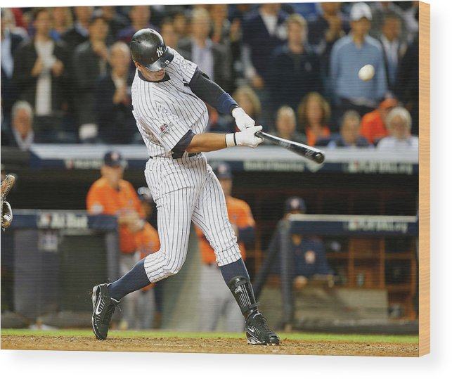 Playoffs Wood Print featuring the photograph Alex Rodriguez by Jim Mcisaac