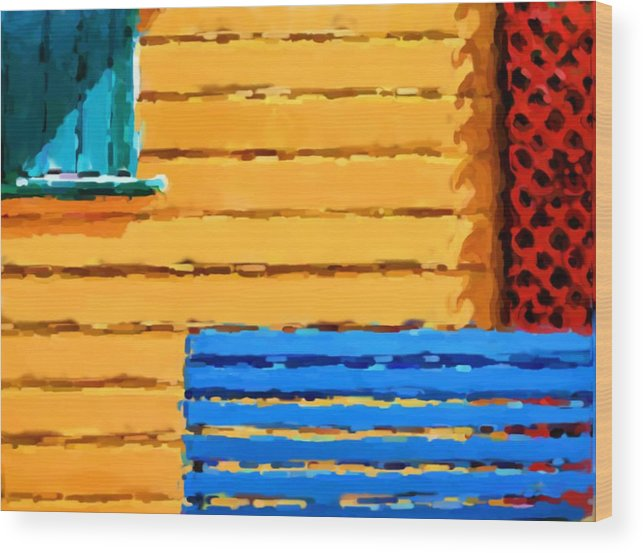 Buenos Aires Wood Print featuring the mixed media Buenos Aires by Asbjorn Lonvig