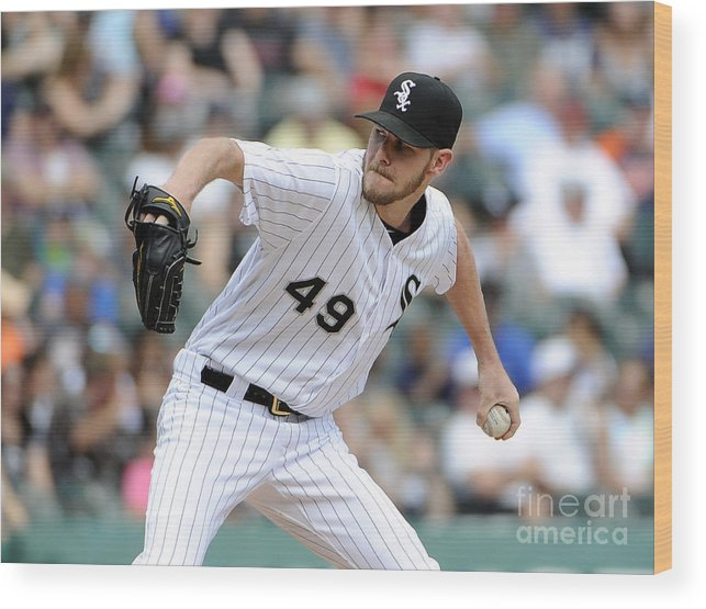 Three Quarter Length Wood Print featuring the photograph Chris Sale by David Banks