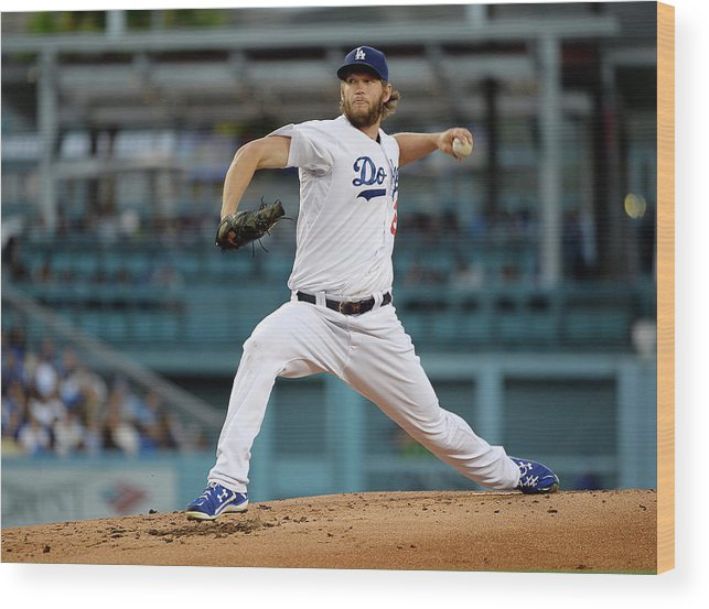 People Wood Print featuring the photograph Clayton Kershaw by Kevork Djansezian