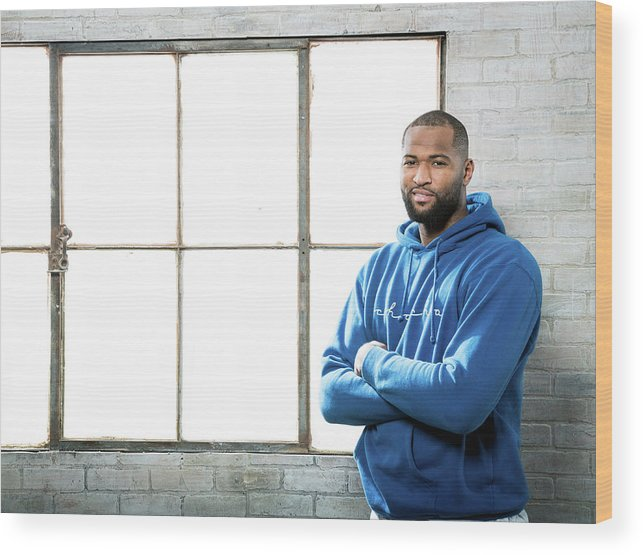 Nba Pro Basketball Wood Print featuring the photograph Demarcus Cousins by Nathaniel S. Butler
