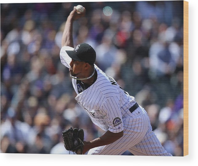 Baseball Pitcher Wood Print featuring the photograph Juan Nicasio by Doug Pensinger
