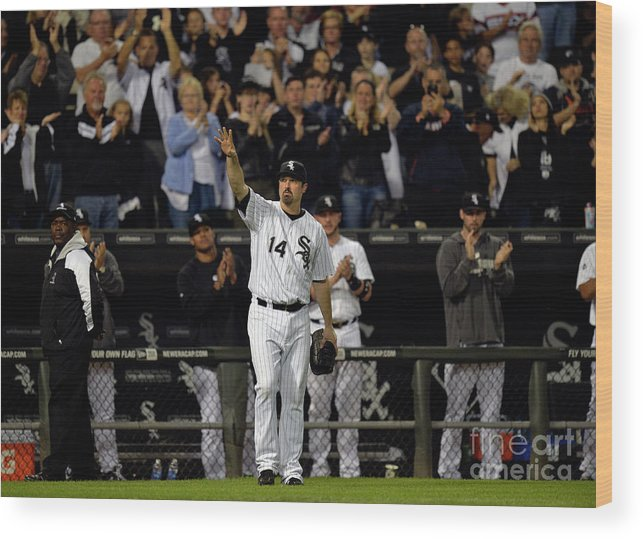 Crowd Wood Print featuring the photograph Paul Konerko by Brian Kersey