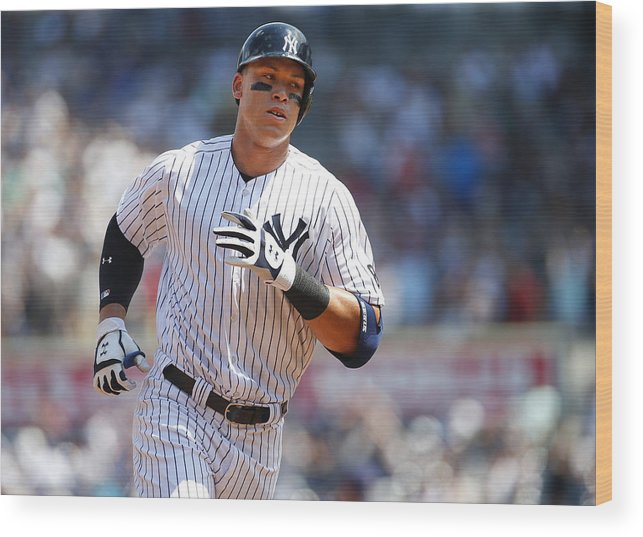 Second Inning Wood Print featuring the photograph Aaron Judge by Rich Schultz