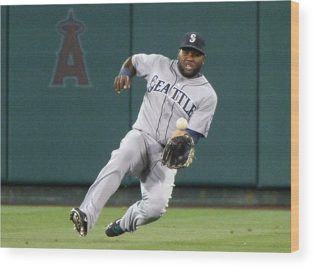 American League Baseball Wood Print featuring the photograph Abraham Almonte and David Freese by Harry How