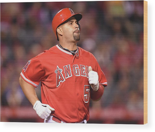 People Wood Print featuring the photograph Albert Pujols by Harry How