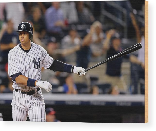 Three Quarter Length Wood Print featuring the photograph Alex Rodriguez by Elsa
