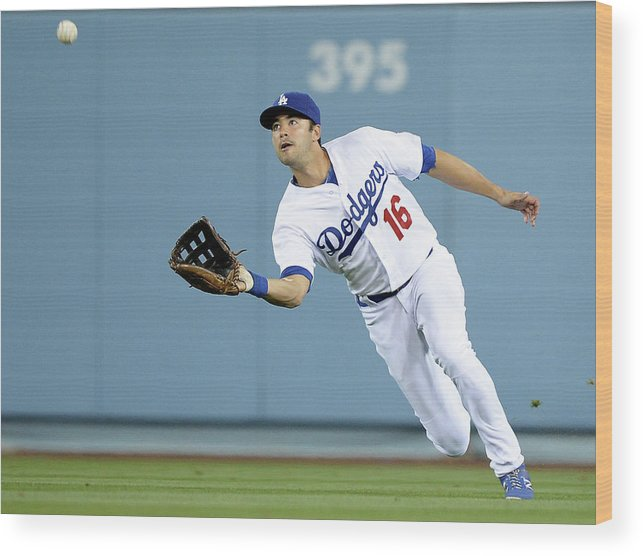 California Wood Print featuring the photograph Andre Ethier and Chris Owings by Harry How