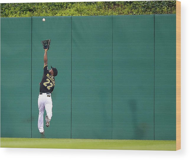 Second Inning Wood Print featuring the photograph Andrew Mccutchen by Jared Wickerham