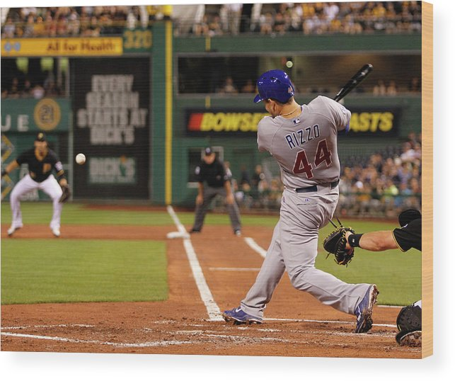 People Wood Print featuring the photograph Anthony Rizzo by Justin K. Aller