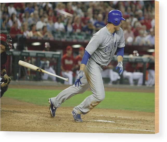Animal Wood Print featuring the photograph Anthony Rizzo by Ralph Freso