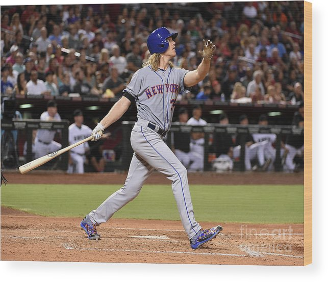People Wood Print featuring the photograph Braden Shipley and Noah Syndergaard by Norm Hall