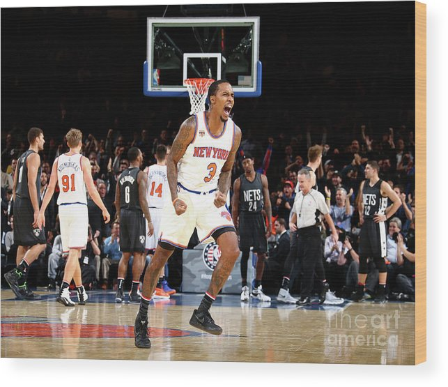 Nba Pro Basketball Wood Print featuring the photograph Brandon Jennings by Nathaniel S. Butler