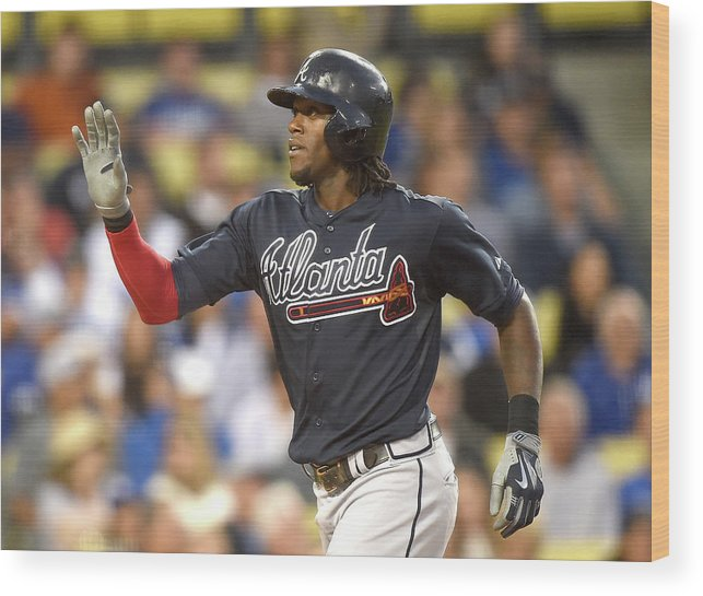 Three Quarter Length Wood Print featuring the photograph Cameron Maybin by Harry How
