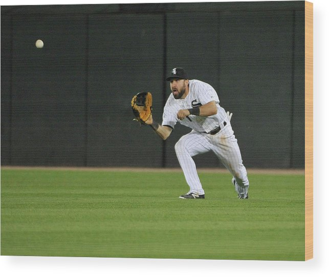 American League Baseball Wood Print featuring the photograph Chase Headley and Adam Eaton by David Banks
