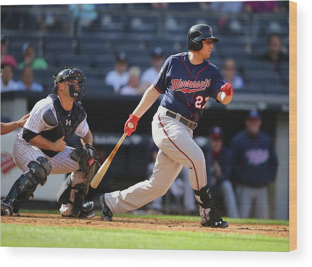 American League Baseball Wood Print featuring the photograph Chris Parmelee by Al Bello