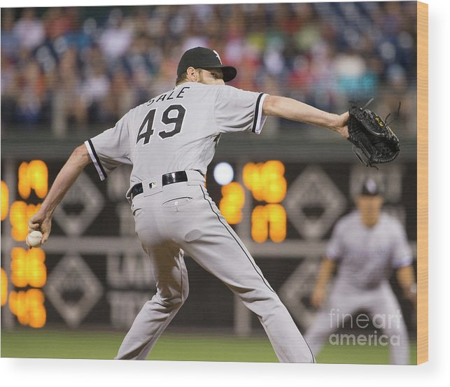 Three Quarter Length Wood Print featuring the photograph Chris Sale by Mitchell Leff
